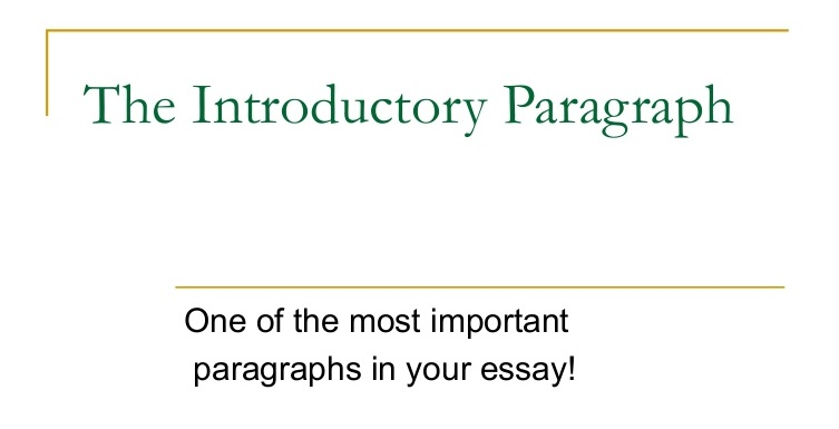 How to write a good Introduction Paragraph for An Essay