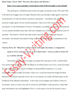 Annotated Bibliography Sample 1 in APA Format